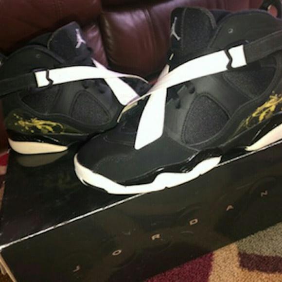 Air Jordan 8 Black Dark Charcoal White